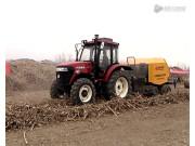 沃得WDB800型打捆机玉米秸秆现场打捆视频