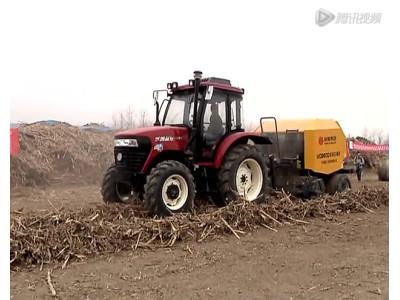 沃得WDB800型打捆機玉米秸稈現場打捆視頻