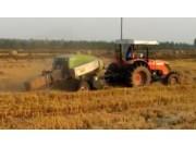 秸秆禁烧秸秆综合利用之湖北江北农场打捆现场--上海世达尔方草捆打捆机