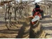 潍坊大众葡萄开沟埋藤机作业视频