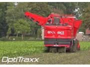 德國荷馬(holmer)Exxact OptiTraxx履帶式六行自走甜菜收獲機作業視頻