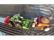 道依茨傲龙7250+米德玛马铃薯种植机作业视频