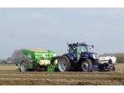 紐荷蘭T7070+米德瑪MS-4000馬鈴薯種植機作業視頻