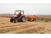 九宮牌YLYQ型打捆機打捆小麥秸稈作業視頻(安徽淮南)