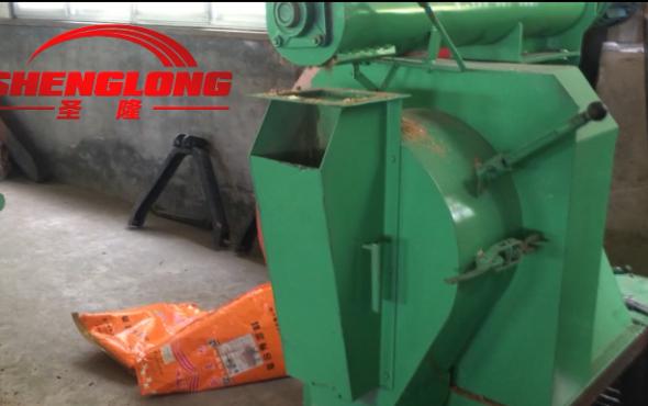 曲阜圣隆SL-250环模颗粒机作业视频