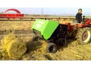 曲阜圣隆稻草秸秆打捆机作业视频