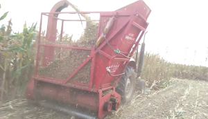 曲阜圣隆玉米秸秆青储机作业视频