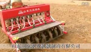 山東三立2BX-7小麥播種機播種作業視頻