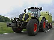 科乐收AXION 800系列拖拉机作业视频