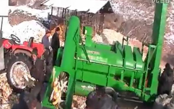 福麟5TY-150玉米脫粒機作業視頻