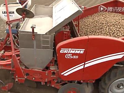 格立莫GL430四行牵引马铃薯播种机作业视频