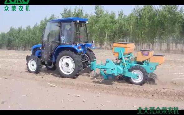 北大荒众荣2BMZ-2Q牵引免耕精密指夹式播种机作业视频
