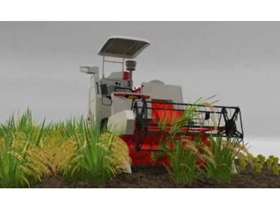 雷沃谷神RG35水稻收割机3D演示