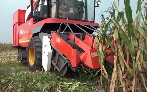 河北英虎全新款4YZB-3B型玉米收获机作业视频