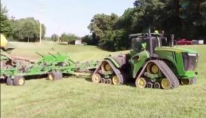 約翰迪爾9620rx拖拉機作業視頻