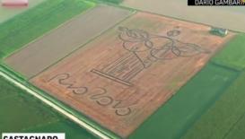 壮观!牛人用雷电竞画出巨幅基督雕像 向里约奥运致敬