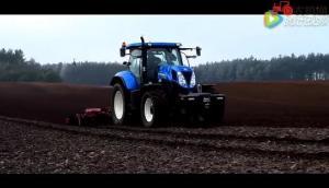 2016紐荷蘭T5060拖拉機作業視頻