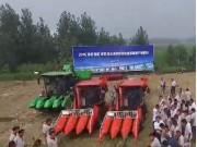 山东常林4YZP-3Y玉米收获机作业视频