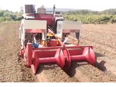 三丰山丘平原专用培土起垄开沟机作业视频