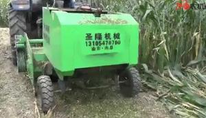 曲阜圣隆玉米秸秆粉碎打捆一体机作业视频