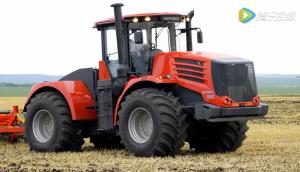基洛维兹K9000拖拉机带宽幅整地机作业