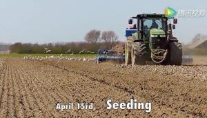 约翰迪尔7280R拖拉机以及S680i收获机作业视频