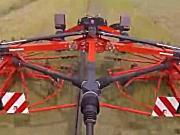 库恩GA8731旋转式搂草机-作业视频