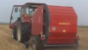 Abbriata公司M150Magnum Plus圆捆打包机-作业视频