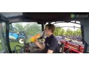 纽荷兰T6010拖拉机驾驶室视角