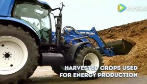 紐荷蘭拖拉機應用在生態農場