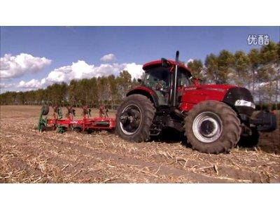 凯斯2104拖拉机+格兰5铧犁---翻地利器