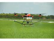 多旋翼无人机水稻喷药作业视频
