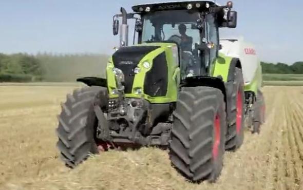科乐收Axion800拖拉机作业视频