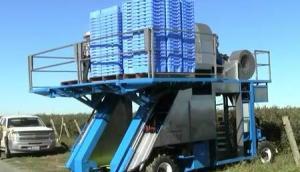 Blueline公司蓝莓收获机作业视频