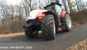 斯太爾CVT6200拖拉機作業視頻