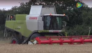 科樂收(CLAAS)LEXION750收割機作業實拍視頻