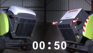 科乐收(CLAAS)VARIANT打包机后盖打开速度对比视频