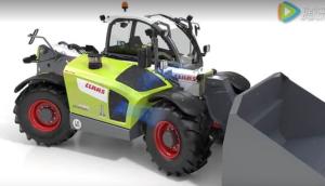 科樂收(CLAAS)SCORPION農用裝載機發動機冷卻系統視頻