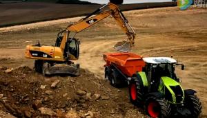 科乐收(CLAAS)ARION系列拖拉机工程应用视频