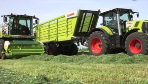 科樂收(CLAAS)青貯機自動跟蹤草鋪系統視頻