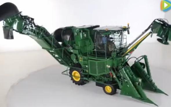 约翰迪尔CH570甘蔗收割机视频