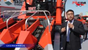山東巨明玉米穗莖兼收機視頻詳解—2018國際農機展
