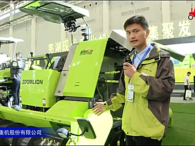 中聯谷王9YZ-2200FA自走式打捆機視頻詳解—2018國際農機展
