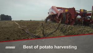 格立莫马铃薯收获机械作业视频2018