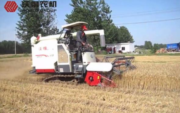 沃得尊享版小麥收割視頻