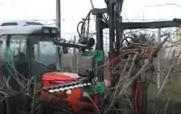 意大利RINIERI CRL葡萄三刀修剪机,顶刀带避障器-前置