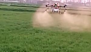 漢和航空金星二號無人機安徽小麥作業視頻
