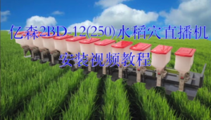 浙江億森2BD-12(250)水稻穴直播機安裝視頻教程