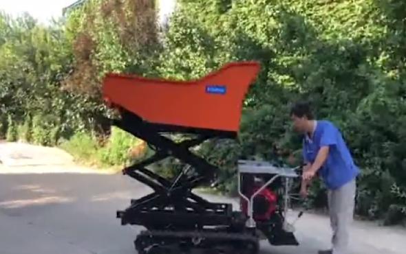 潍坊森海升降翻斗运输车-作业视频
