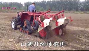 佐佐木山药开沟种植机-作业视频